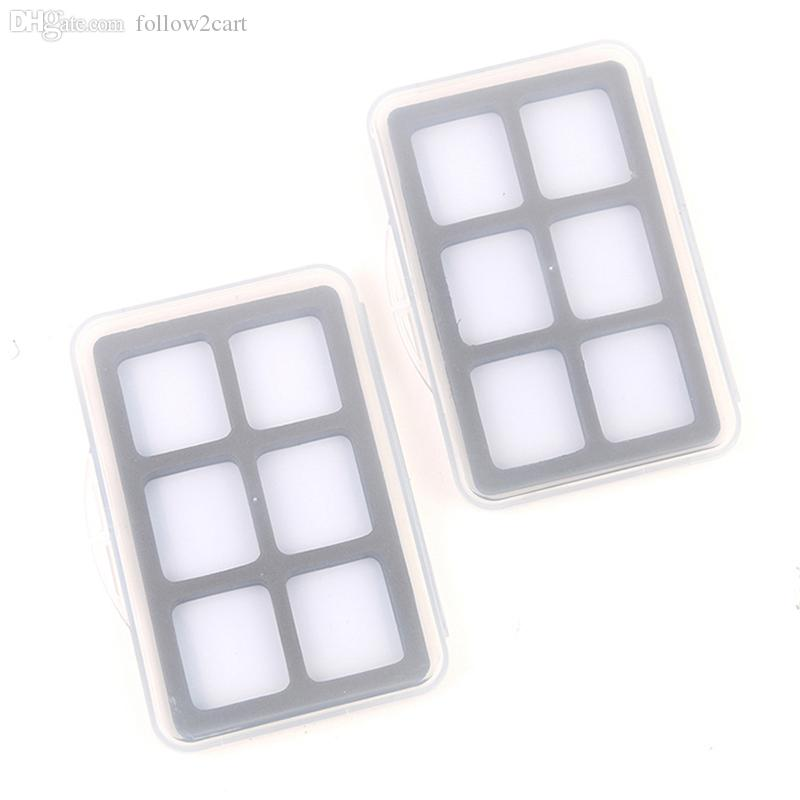Waterproof Fly Fishing Boxes 6 Transparent Small Size 115*80*12mm Flies Hook Holders Slim Plastic Fly Tackle Box WX No Flies