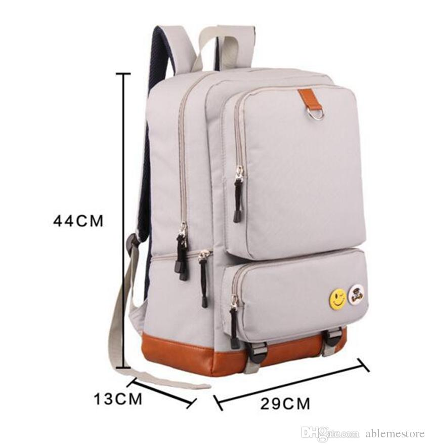 Cheap Wholesale New 2017 Korean Fashion Student School Bag solid Oxford Backpack for Men and Women travel backpack