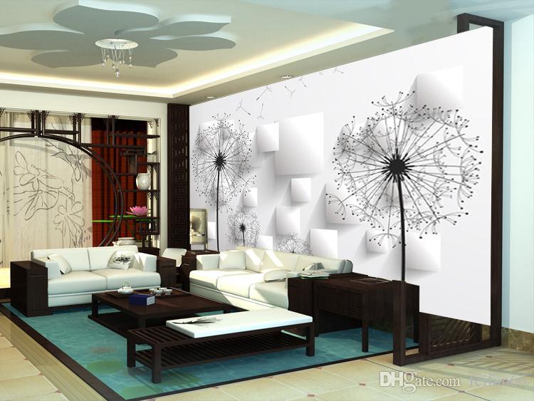 3D room wallpaper custom mural non-woven wall paper sticker 3 d dandelion TV setting wall paintings photo wallpaper for walls 3d