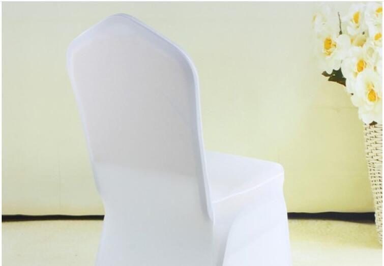 Eco-Friendly Universal Branco Polyester Spandex Cadeira Wedding Capas para casamentos Banquet Folding Hotel Decoração 93 * 40cm DHL