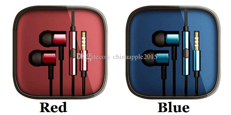 Colorful 3.5mm Metal For Xiaomi piston Headphone Universal Earphone Noise Cancelling In-Ear Headset For iPhone Samsung Smart android phone