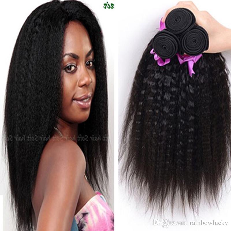Sell At A Discount Kinky Straight Hair Weaves Yaki Human Hair Weaves