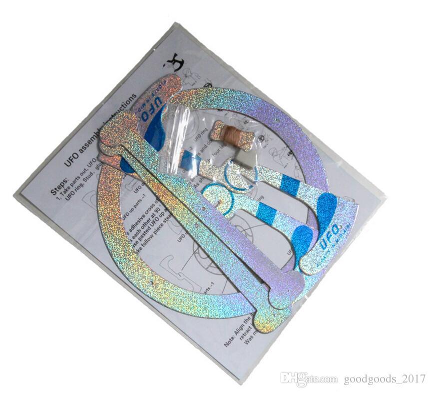 Recién llegado Novetly Juguetes trucos de magia flotante Flying Disco Increíble flotante UFO juguetes magia truco fresco juguete montado por ti mismo M837