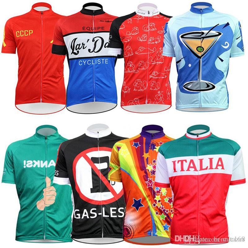 2017 CCCP Cartoon Cycling Jerseys Short Sleeves Cycling Tops MTB Ropa  Millot Summer Style For Men Women Bike Wear XS-4XL Cycling Jerseys Bike  Wear Bicycle ... 90a0a533d