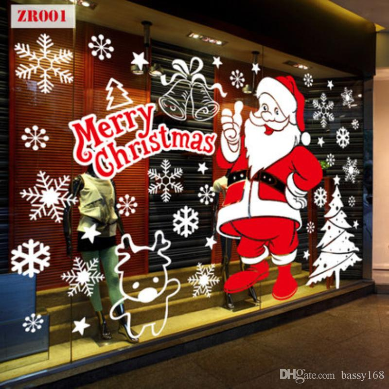 Merry Christmas Wall Sticker New Years Eve Static Stickers Window