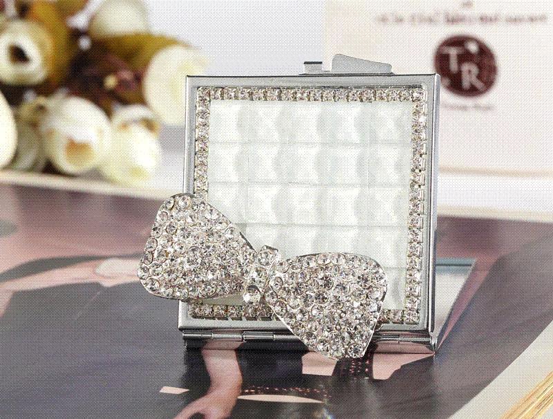 Rhinestone Wall Mirror wedding party bridesmaid girl friend gift,bling crystal pearl