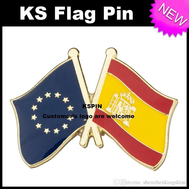 Pin della bandiera del distintivo della bandiera della Spagna dell'Unione Europea molto spedizione gratuita XY0085