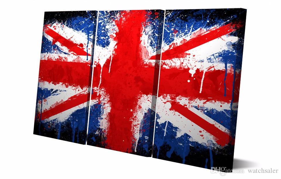 HD Printed Union Jack Painting on canvas room decoration print poster picture canvas guitar paintings