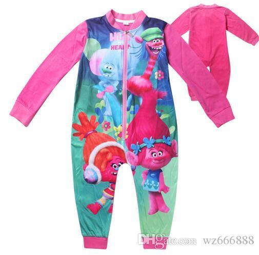 c34c61333d66 Baby Trolls Romper Clothing Body Suit Long Sleeve Kids Boys Girls ...