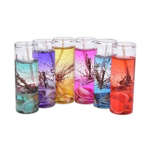 고품질 아로마 테라피 무연 양초 바다 조개 젤리 에센셜 오일 양초 로맨틱 향기 양초 색 랜덤
