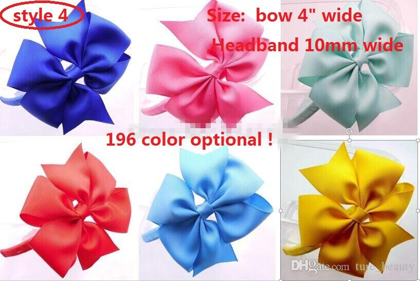 Gezahnte Haar-Reifen-Gewebe-Stirnband 10mm Kunststoff-Stirnbänder mit Bogen-Haar-Reifen-Mode-Band-Haarband-Mädchen-Headwear-Haarschmuck