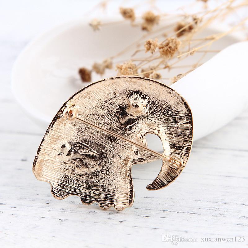 다른 아름다운 화려한 앵무새 브로치 새 브로치 골드 컬러 에나멜 장식 액세서리 셔츠 코사지 기념품 기념일 선물