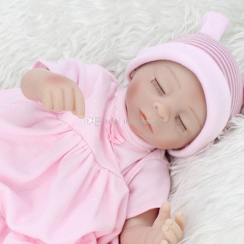 45 см реалистичные возрождается кукла ткань тела Мягкий силиконовый винил новорожденный ребенок дети ребенок подарок медсестра мать игрушки