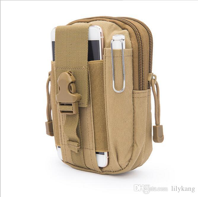 Outdoor Sport Casual Tactical Belt Loops Waist Bag Moile Waist Pack Smartphone Mobile Phone Case Hiking Pouch Waist backpacks