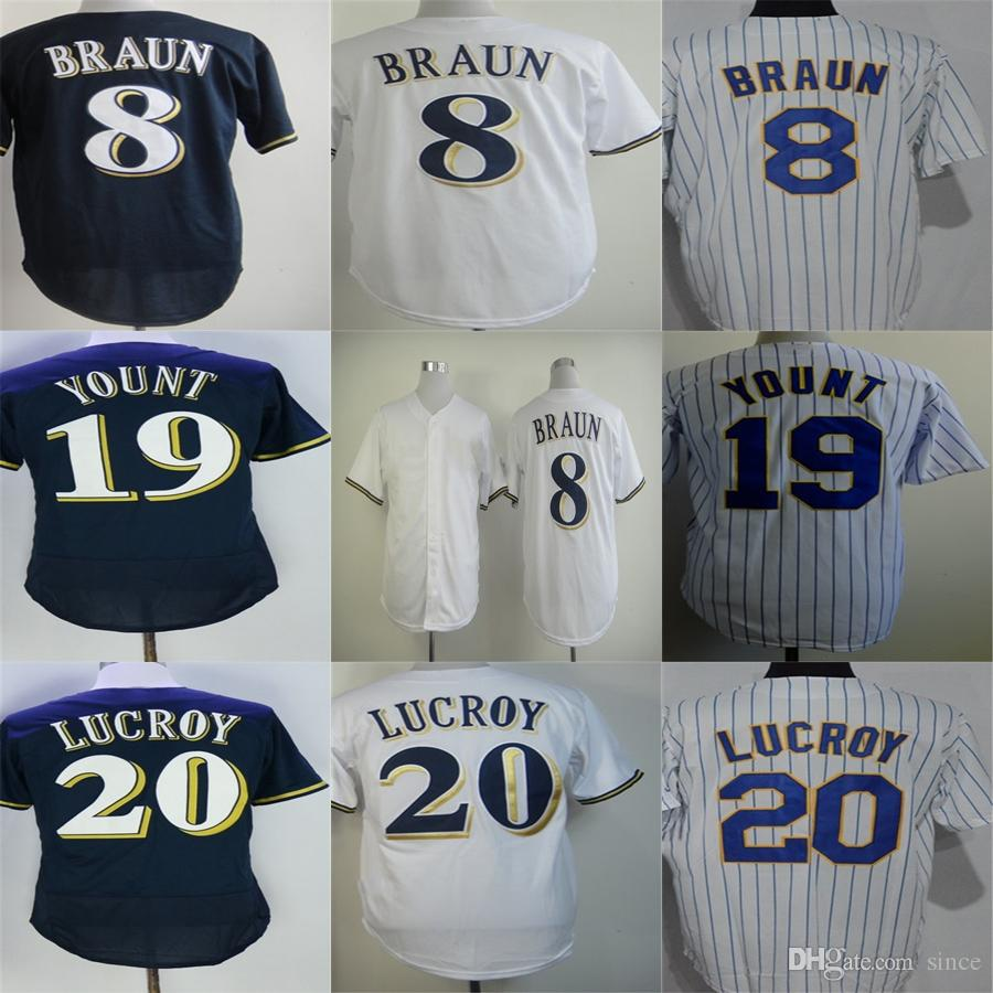 c10bf5f2ed6 ... reduced wholesale milwaukee 20 jonathan lucroy 19 robin yount 8 ryan  braun flex base cool base