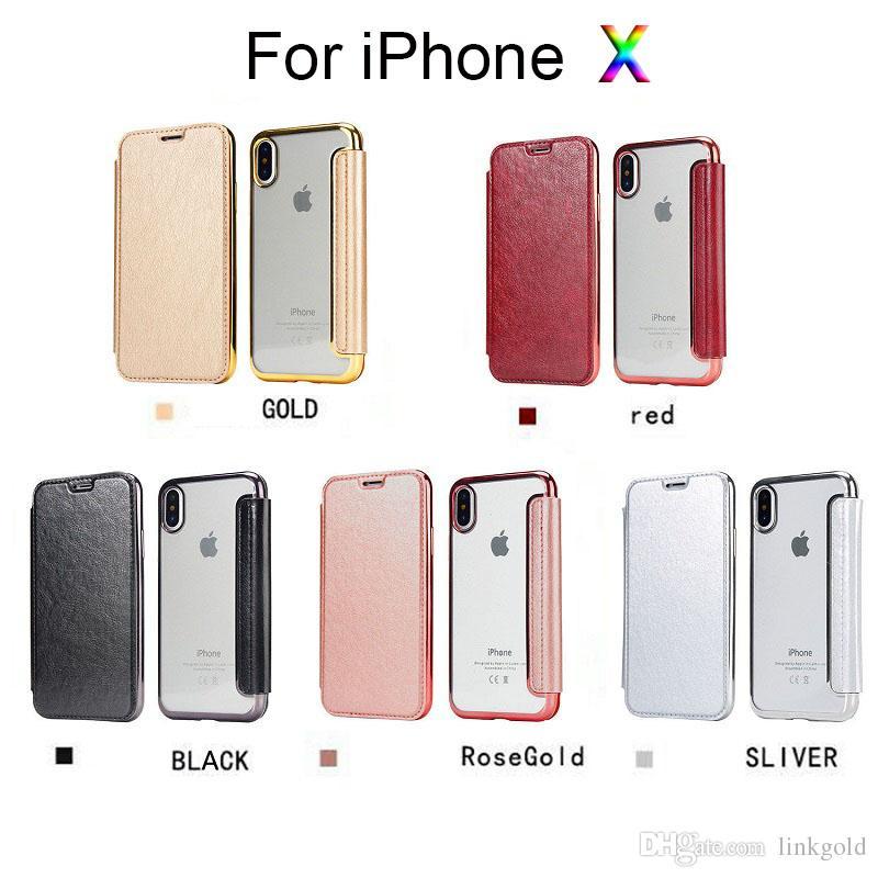 Protection Telephone Portable Pour Apple Iphone8 8 Plus Flip Etui