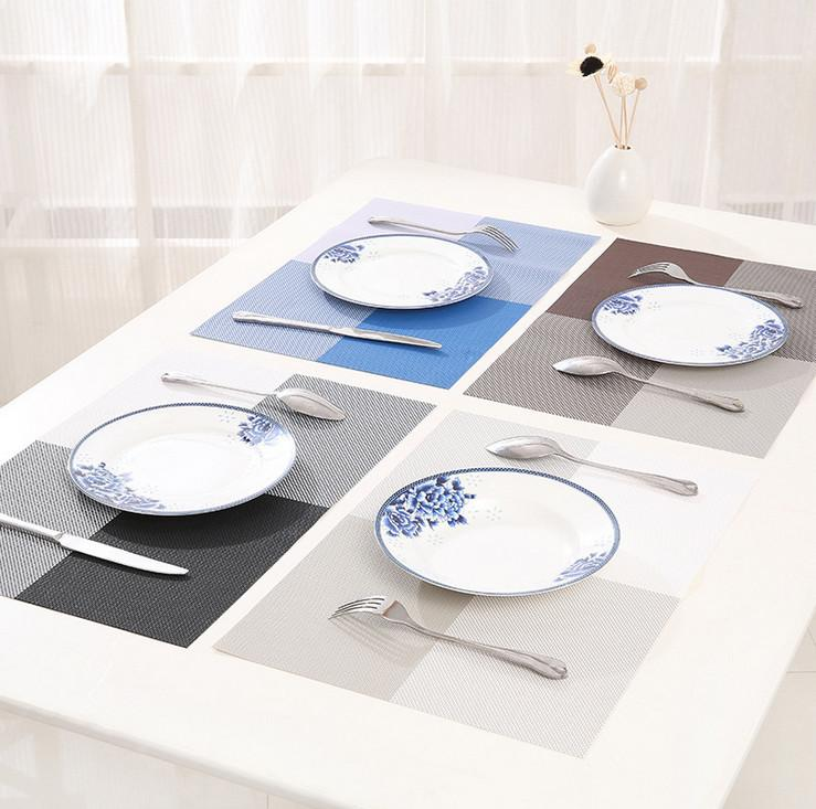 2018 Wholesale Placemat Fashion Pvc Dining Table Mat Disc Pads