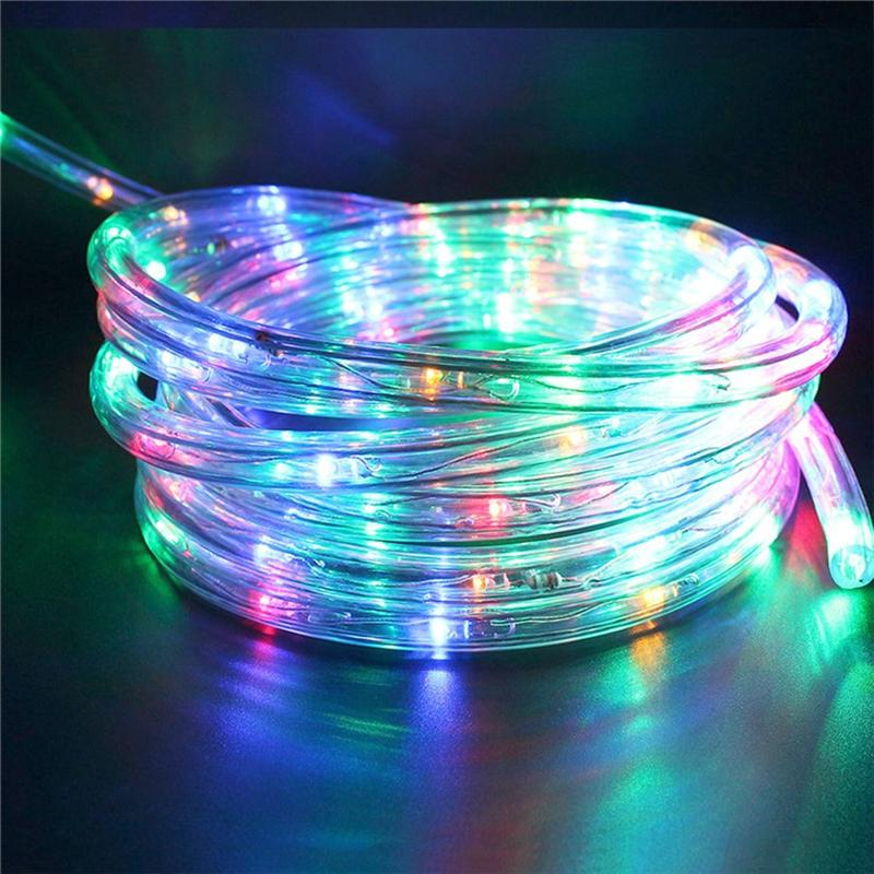 Waterproof 100LEDs Solar Rope Lights Portable Outdoor LED Garden ...