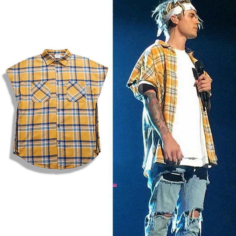 2018 inflation streetwear brand clothing cotton arm for How to wear men s flannel shirts