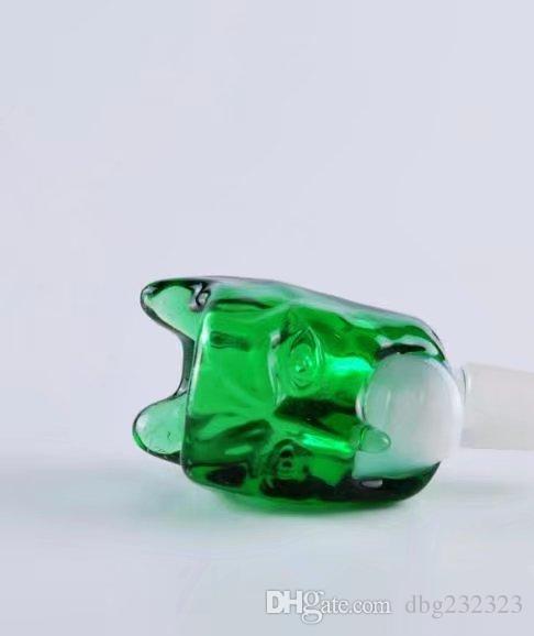Lange Nase Bubble Head, Großhandel Bongs Ölbrenner Rohre Wasserleitungen Glasrohr Oil Rigs Rauchen Kostenloser Versand
