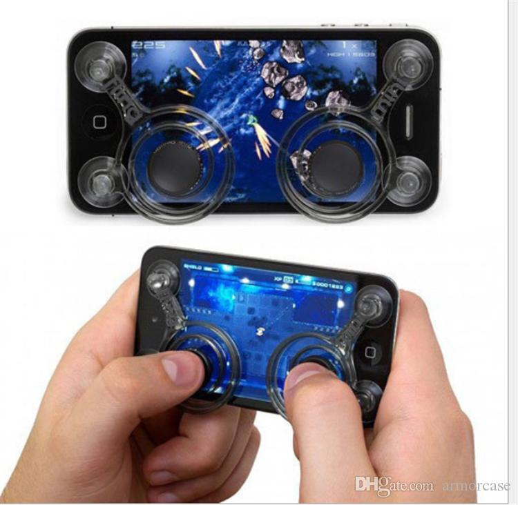 Touch Mini Game Handle Controller Mini Tactile Game Controller Mini Sucker joystick for Iphone ipad ipod Android s4 note tablets MP4