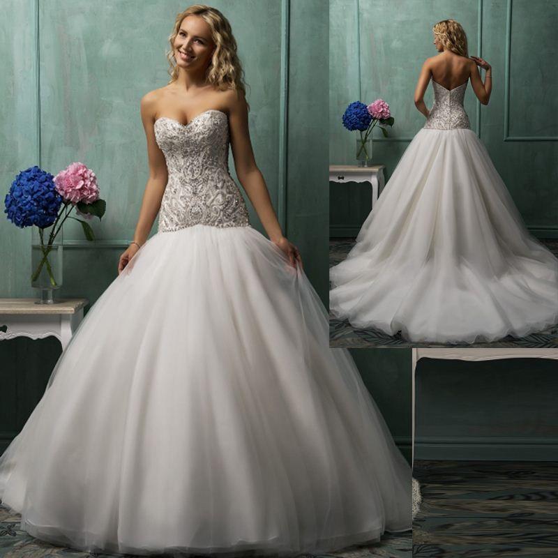 Discount Low Waist Custom Made Sweetheart Ball Gown Wedding ...