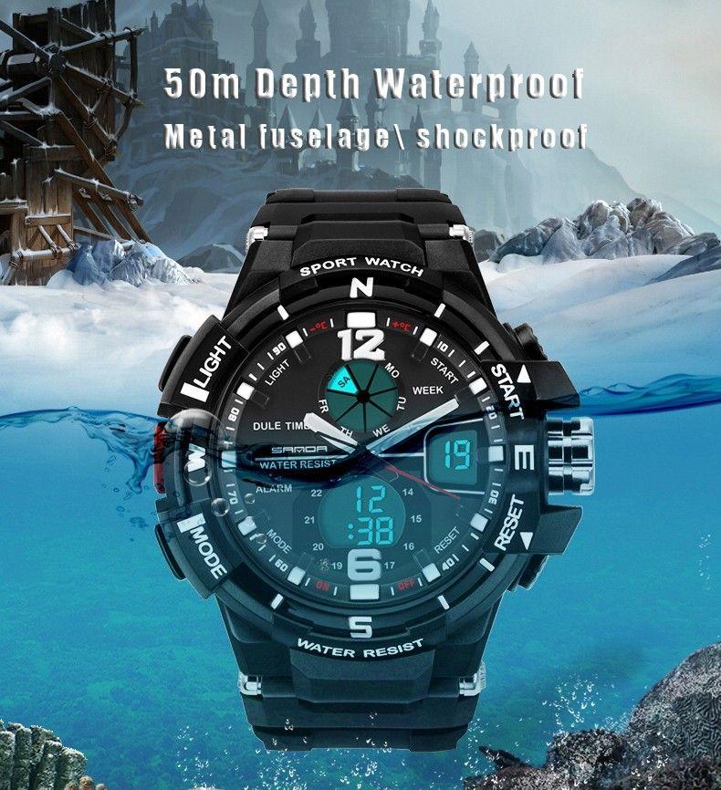 d0e8086af34d Compre 2016 Nueva Marca SANDA Reloj De Moda Hombres G Estilo ...