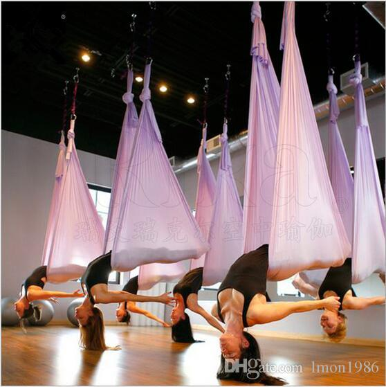 Top Grade Professional Yoga Train Resistance Bands Yoga Hammock Swing Bed Training Yoga Belts Indoor fitness Supplies