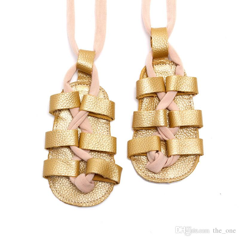 Baby Moccasins Shoes Summer Girls Sandals Genuine Leather Girls Toddler Shoes Gladiatus Roma Soft Soled Shoes Footwear