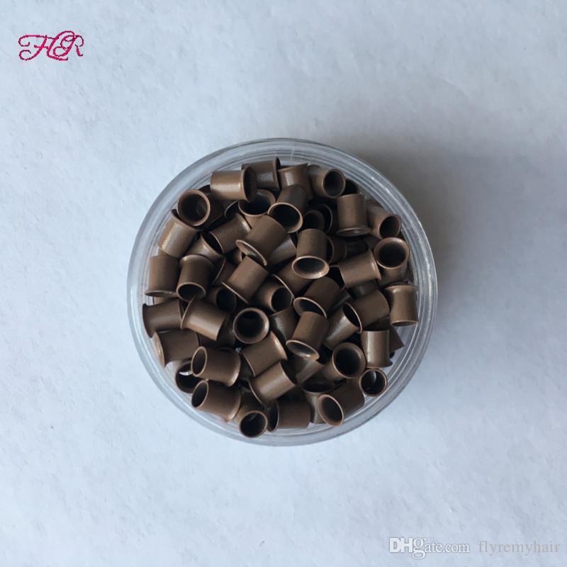 Svasato micro anello di rame 3.2x2.8x4.0mm vendita calda facilita facilmente i mini branelli i capelli di punta
