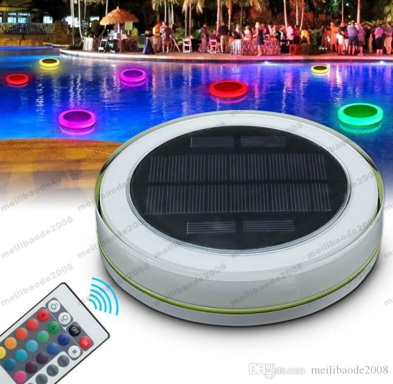 2019 2017 NEW Solar LED Underwater Light RGB Swimming Pool Lamp Power Pond  Romantic Floating IP68 Waterproof LED Outdoor Light Remote Control MYY From  ...