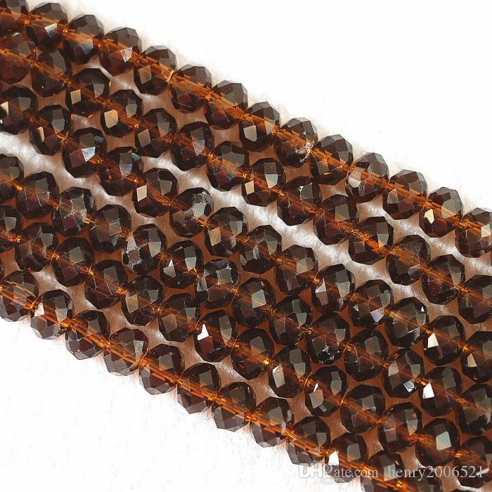 müşteriler diy 100 ± 3 PCS, 4 x 6 / 6x8 mm Amber Kristal Faceted Abacus Gevşek Boncuk sıcak övgü kazanmak için