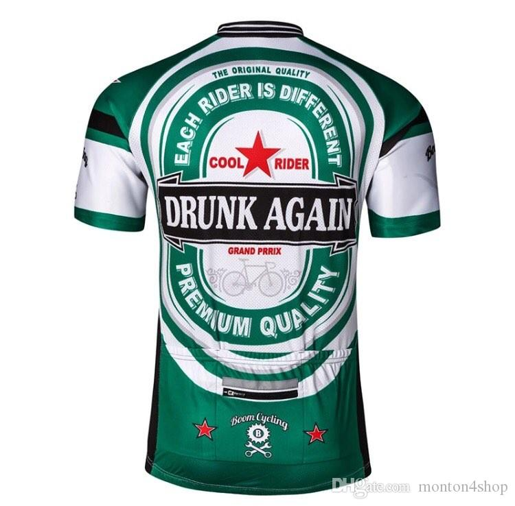2018 Herren Radtrikot jeder Fahrer ist anders Fahrrad Trikot grün weiß Radsportbekleidung Trikots cooles Shirt einzigartige Fahrradbekleidung