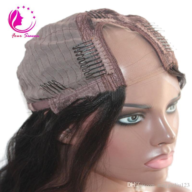 10 '' -18 '' Doğal dalga Brezilyalı bakire saç u parçası peruk% 100% işlenmemiş bakire kısa bob insan saçı upart peruk siyah kadınlar için ucuz