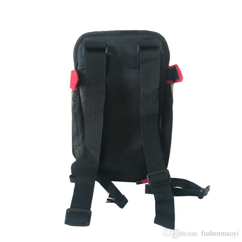 كلب الجبهة الصدر القماش حقيبة الظهر مع أزرار السفر في الهواء الطلق دائم حقيبة كتف المحمولة للكلاب القطط