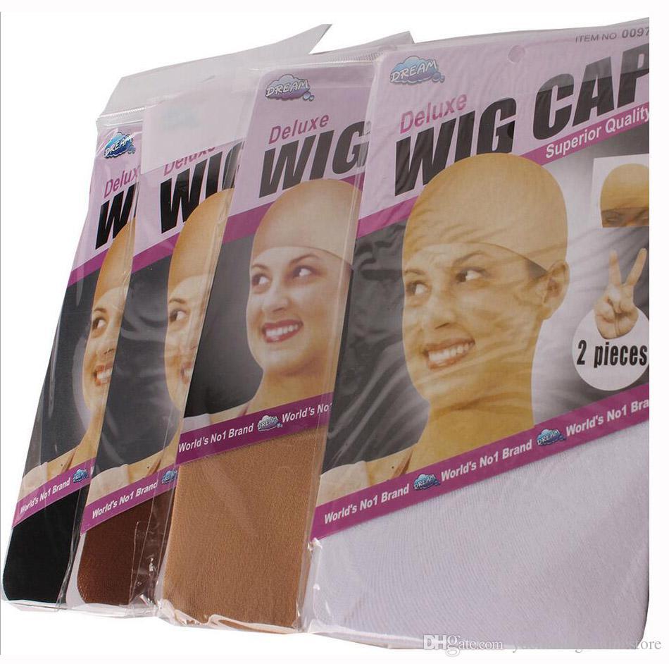/ 15packs NOUVEAU Deluxe Dream Beige Perruque Cap Extensible Élastique Cheveux Net Snood Perruque Cap Filet Cheveux Mesh Y demande