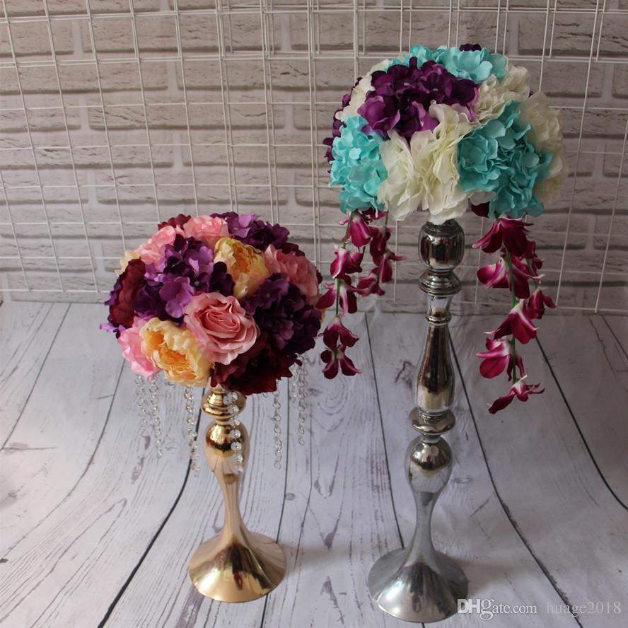 Nouveau centre de table fleur boules de mariage route plomb fleurs artificielles de mariage fleurs de table de mariage Diamètre 30 cm