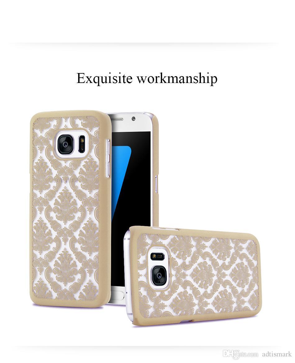 كفر حافظة لسامسونج جلاكسي نوت 8 S6 S7 Edge S8 بلس كفر حافظة زهرة Clear Case for Samsung Galaxy A5 A7 J5 J7 2016
