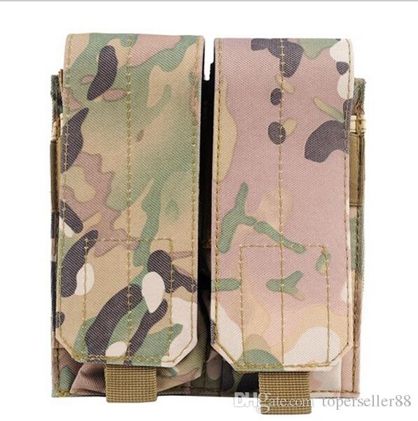 MOLLE PALS Double Stack Rifle Magazine Mag Top Flap Pouch holster for M4 M16 5.56MM Tactical Airsoft Paintball Shooting Molle Ammo bag