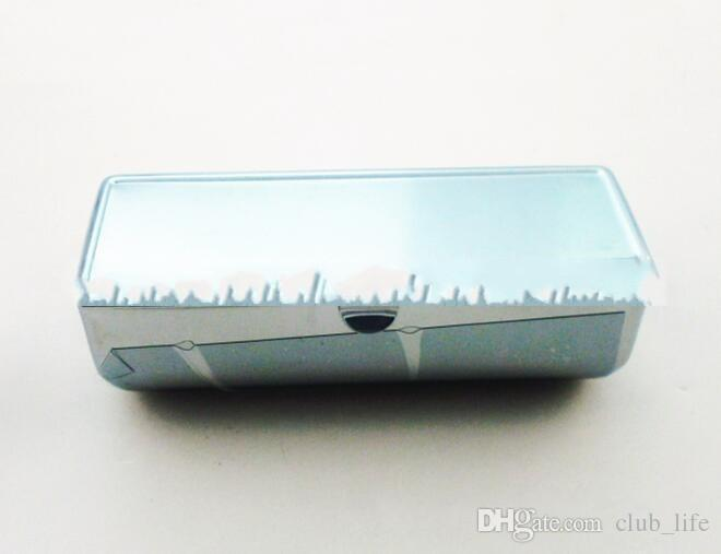 Wholesale Blank Metal Lipstick Box pill Cases Holder Inside with Mirror Personlized Logo Gift