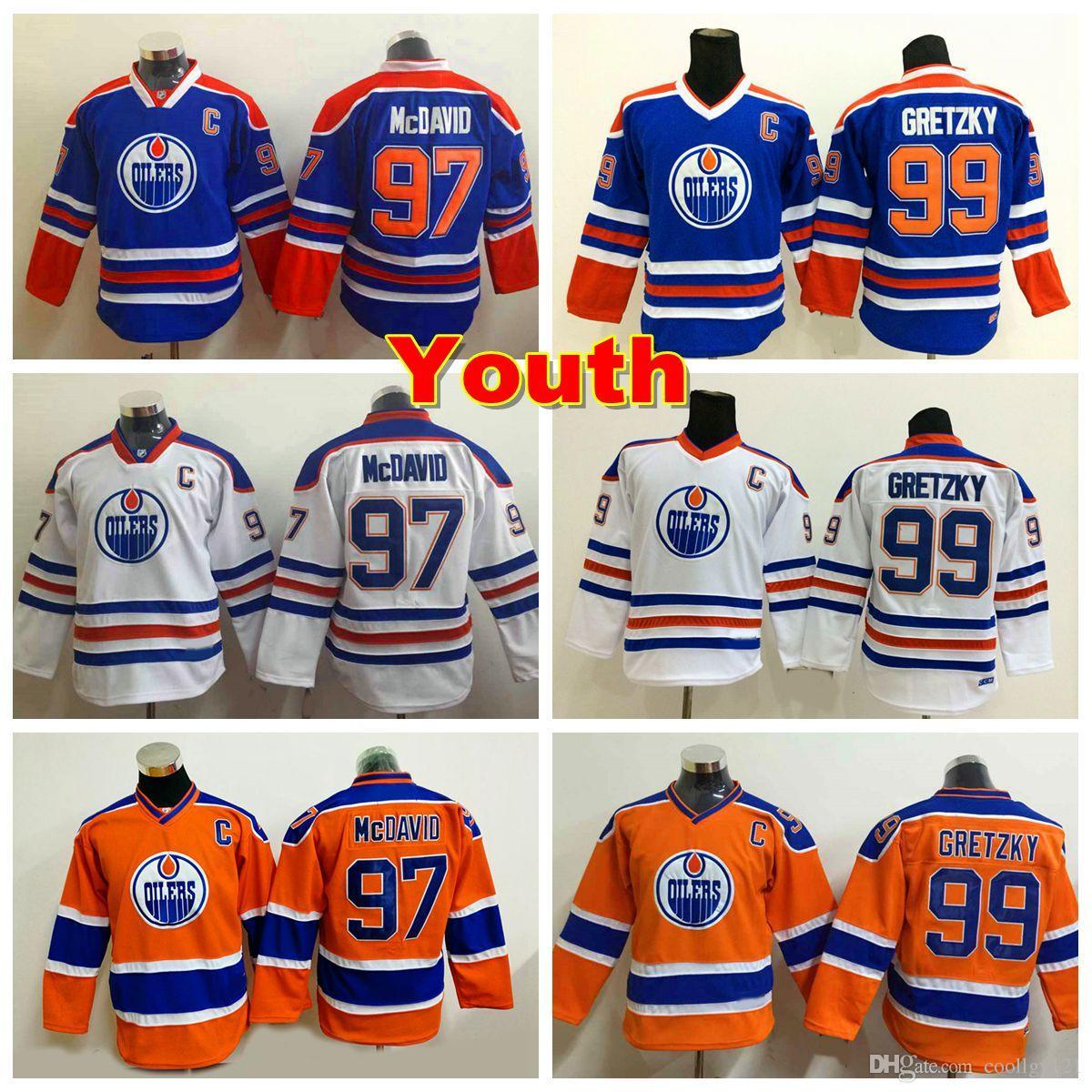 best deals on efe0c f2666 youth edmonton oilers 99 wayne gretzky 2015 orange ccm ...