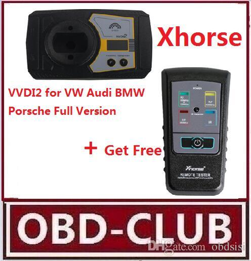 Original Xhorse VVDI2 Command Key Prog for VW/Audi/BMW/Porsche Full Version  Plus Remote Tester for Radio Frequency Infrared