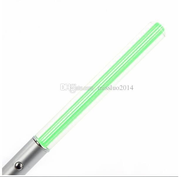 Hot LED Flashlight Stick Keychain Mini Torch Aluminum Key Chain Key Ring Durable Glow Pen Magic Wand Stick Lightsaber LED Light Stick