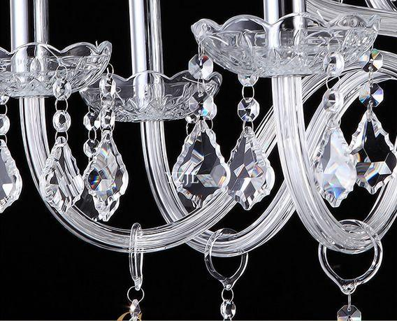 Continental chandelier crystal light chandelier silver living room-bedroom atmosphere glass minimalist penthouse chandelier crystal lamp