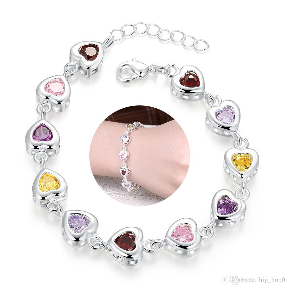 Costume Jewellery Ladies Silver Fashion Bracelet Pretty And Colorful