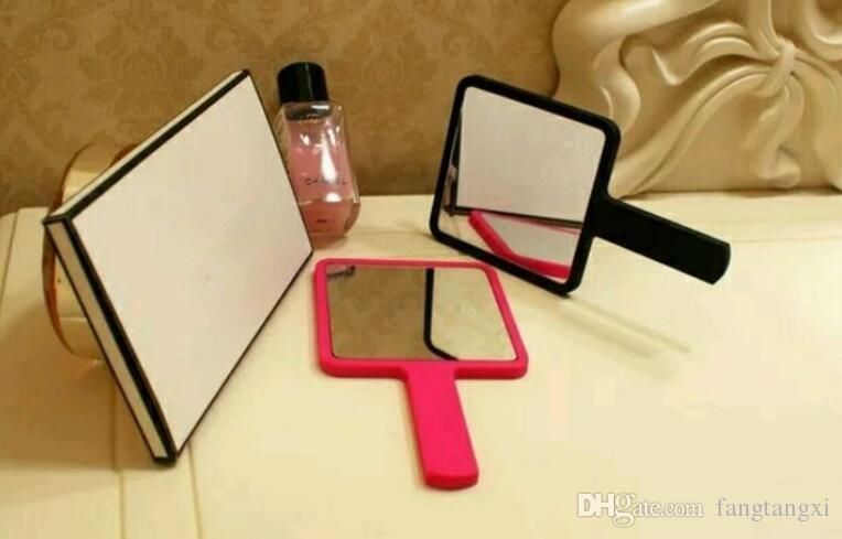 Hot 3 cor de maquiagem de luxo espelho mini-espelho vintage espelho espelho cosméticos ferramentas com caixa de presente VIP