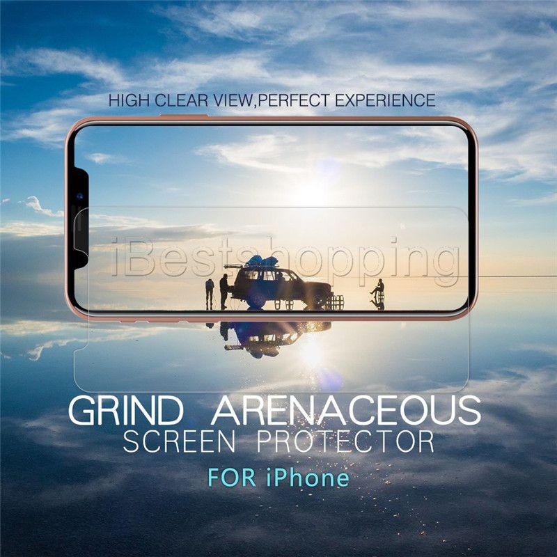 iPhone 12 için 11 Pro Max temperli cam Ekran Koruyucu Film iPhone X Xr Xs Max 8 7 6S Artı Huawei P30 lite aristo 2 J4 J7 J6 Stylo 5