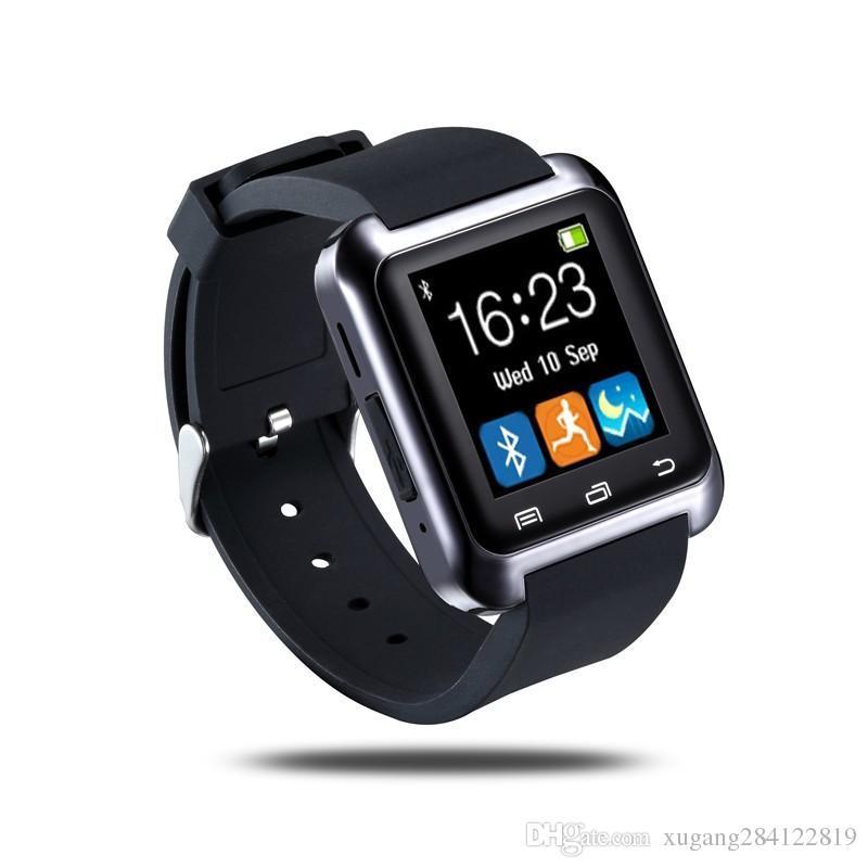 eb1c3be6b1f Compre Bluetooth U8 Smart Watch Relógio De Pulso U8 Watch Smart Watch Esportes  Relógios De Pulso Para Iphone Samsung Android Telefone Smartphones De ...