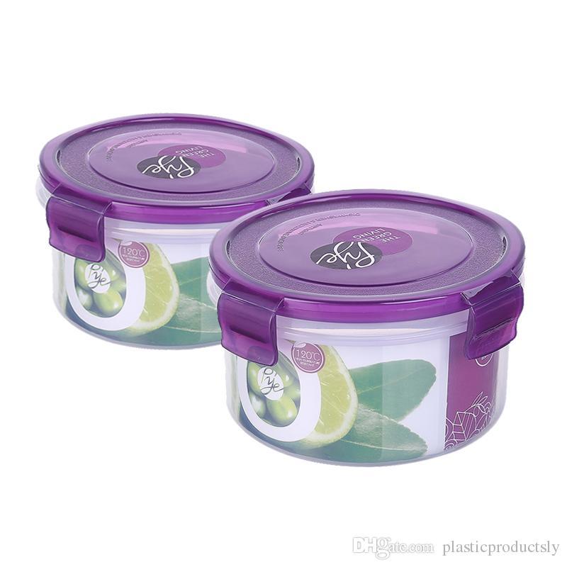 Crisper Small Round 550ML Plastic Storage Containers Lunch Box