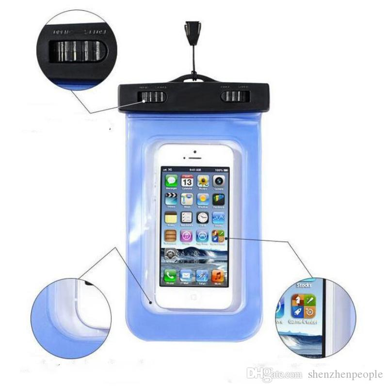 wholesale dealer 7d694 60245 PVC Waterproof phone Case water proof Cover Underwater Pouch phone Bag For  mobile phone DHL free